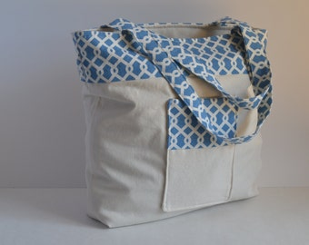 Reversible Canvas Tote