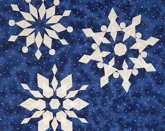Snowflakes quilt pattern - ON SALE