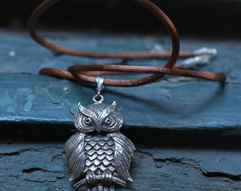 Handmade,jewelry womens gift,unique,Owl necklace