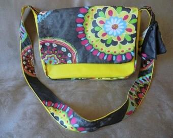 BAG BESACE yellow REVERSIBLE