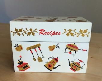 Vintage Recipe Box Ohio Art Co-Tin