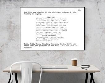 Dead Poets Society - Screenplay Movie Poster