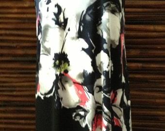 Black Floral Short Strapless Dress