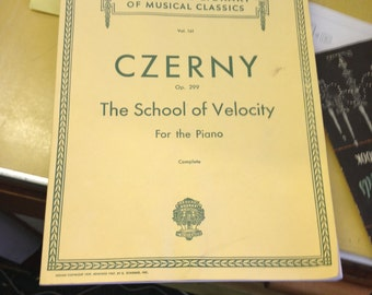 Vol. 161 Czerny Op. 299 The School of Velocity For the Piano