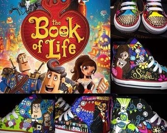 Custom Hand Painted The Book of Life Shoes