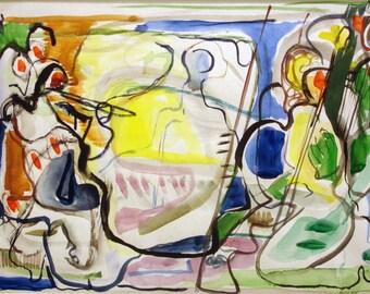 Albert Urban Abstract (watercolor)