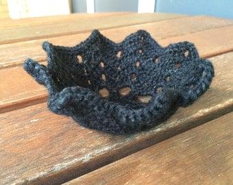 Crocheted little basket