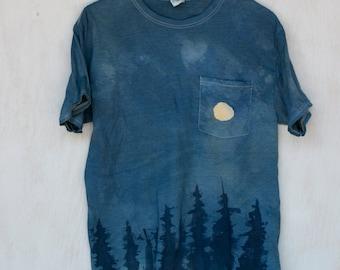 Full Moon and Treeline T-Shirt