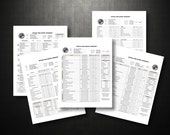 One-Page Transcript Templates (Buy Logo separately for Left/ Right)