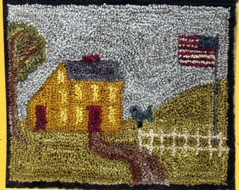 Country Cottage by Hooked on Rugs Punch Needle Pattern