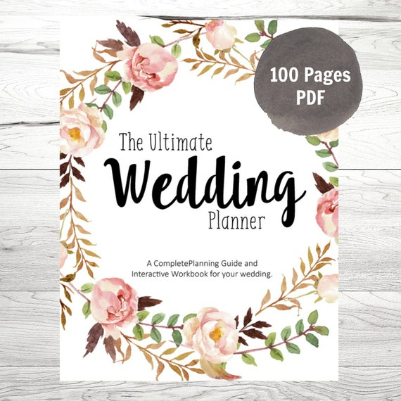 Wedding Planner Printable Wedding Planner By