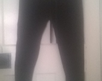 Plain black yoga/lounge trousers/pants