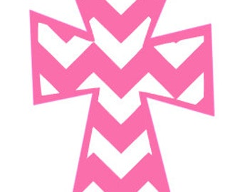 Chevron Cross Decal