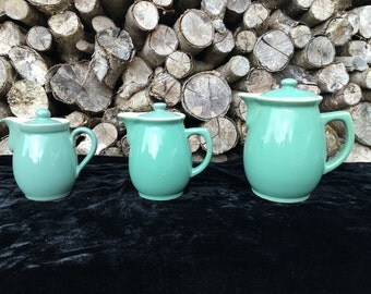 Denby 'Manor Green' Stoneware Jugs