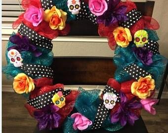 Día de Los Muertos / Sugar Skull Wreath