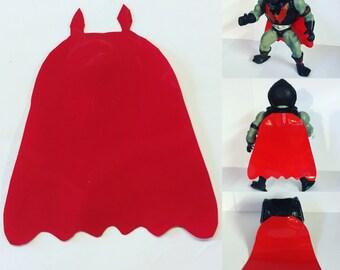 MOTU Hordak Custom Red Vinyl Cape Masters of the Universe Replica Cape Only He-Man Skeletor