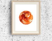 Venus Planet Print, Cosmos print, Minimal wall Art, Astronomy printable, Solar system print, Circle Planet, Abstract Watercolor Universe Art