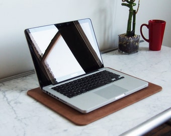 Distressed Nutmeg Brown Leather Desk Pad