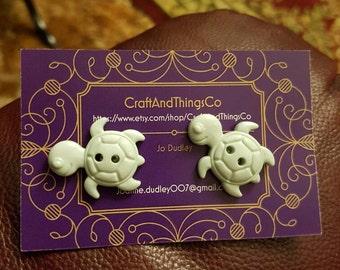 Handmade turtle earings