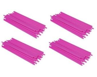 """PINK - 4.5"""" (114mm) Plastic Lollipop Sticks"""