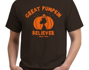Great pumpkin Believer snoopy and charlie brown t shirt for halloween Adults