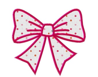 Embroidery bowtie applique