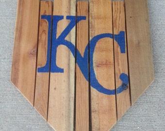 Wood KC Crown sign