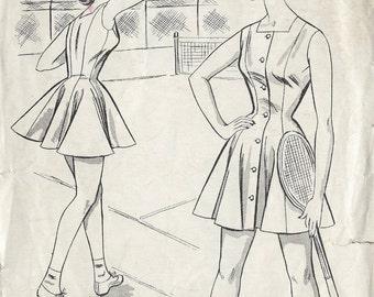 1950s Vintage Sewing Pattern B34 TENNIS DRESS (1237) Le Roy 2183