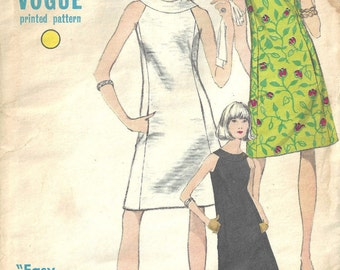 "1967 Vintage VOGUE Sewing Pattern B36"" DRESS (1623)  Vogue 7094"