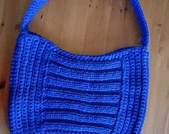 Large bag wool blue