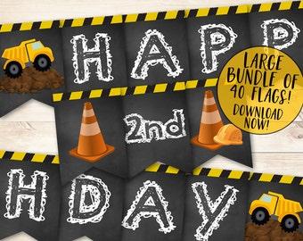 Construction Birthday Banner, Construction Banner, Construction Birthday Party, Dump Truck Banner, Construction Party, Dump Truck Party