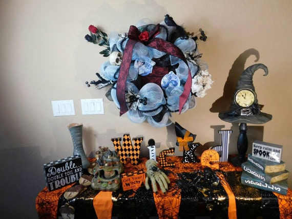 halloween wreath tim burton corpse bride decorations indoor. Black Bedroom Furniture Sets. Home Design Ideas