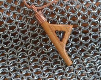Runic style pendant - Thurisaz
