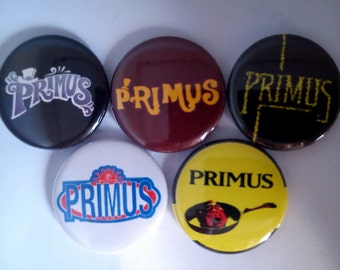 "5 x Primus 1"" Pin Button Badges ( frizzle fry pork soda brown album antipop us )"