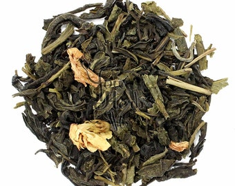 Whole Jasmine Flowers Chinese Green Tea Loose Leaf 75g - Extremely Fragrant