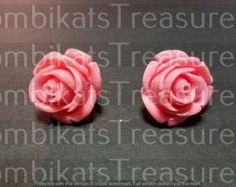 Rose 2 Acrylic Earring