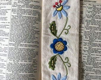 Floral Embroidered Bookmark