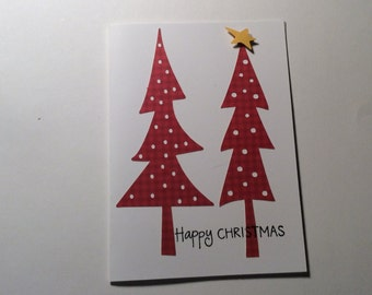 Hand made Christmas card Country charm