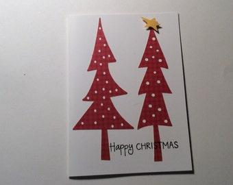 Hand made Christmas card Country charm