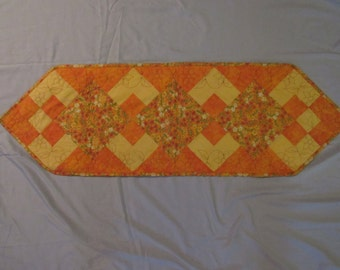 Orange And Yellow Floral Table Runner