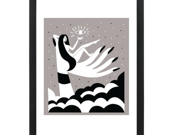 In the Clouds - Giclee Print