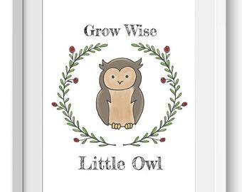 Amazing Owl Wall Art | Etsy Part 22