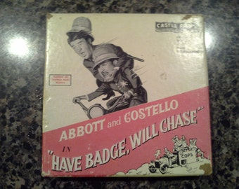 VINTAGE Super 8mm Abbott and Costello in 'Have Badge, Will Chase'