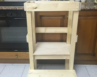 Torre dell'apprendimento / Kid Step Stool, Toddler Step Stool, Modern Step Stool, Rustic Step Stool