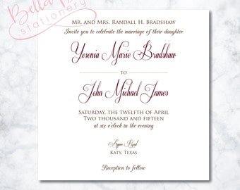 Yesenia Wedding Invitation Design