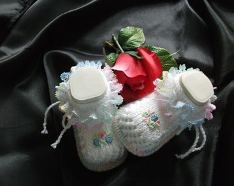 knitted baby shoes, baby shoes, baby socks, Babybooties * gorgeous... *.