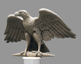 Bronze sculpture, EAGLE, at roman standard