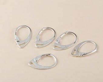 925 Sterling Silver Leverback Hook Earwire Jewelry Earring Findings