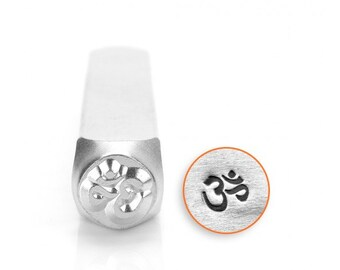 Spiritual Metal Stamps, Om Design Stamp, 6mm Jewelry & Craft