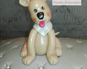 Decoration, unconventional, fondant, cake toppers, fondant figurines, dog